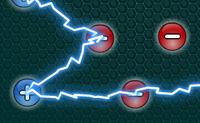 Interliga todos os eletrões e faz um circuito. As linhas não se devem cruzar, por isso é importante pensar com cuidado antes de se iniciar a ligação de eletrões.