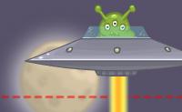 Move as vigas e outros objetos de tal forma que os astronautas pequenos fiquem protegidos dos raios da nave espacial voando sobre eles!