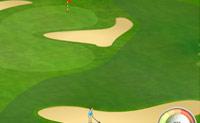 Neste jogo de golfe tenta jogar a bola no putt!