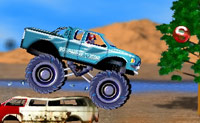 Tenta chegar  meta com este grande Monster Truck!