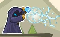 És Willy o Feiticeiro. Com o teu cajado mágico podes matar monstros para proteger a princesa do mal. Atira nos pequenos monstros e cavaleiros e não batas na princesa. A tua energia é limitada, então usa-a de forma eficiente! O teu raio de energia salta para trás quando atinge um triângulo roxo. Podes usar a seta azul de 'teleporte' para te deslocares de um ponto para o outro.