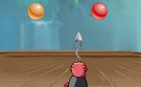 Joga Bubble Struggle 3, uma versão extremamente divertida e viciante do popular  jogo de luta de bolhas! Tenta atirar em todas as bolhas coloridas e estrelas cadentes e certifica-te de que tu mesmo não serás atingido pelas bolhas. Cada bolha ou estrela em que acertares irá dividir-se em duas menores que vais precisar de abater também. Portanto, haverá cada vez mais e será cada vez mais difícil não ser atingido! Podes ganhar todo o tipo de bónus neste divertido jogo . Despertadores para tempo extra, ou barras de dinamite que vão fazer as bolhas tão pequenas quanto possível. Também podes ganhar vidas extras, e cristais de gelo que param todas as bolhas no jogo. Há também dois tipos diferentes de escudo que te fazem temporariamente invulnerável. Os ícones com pequenas botas sobre eles aceleram temporariamente a velocidade do jogo, e os ícones verdes com um M vão abrandar as bolhas. A seta vermelha a apontar para a esquerda vale tempo extra. Também podes ganhar armas extra: arpões duplos, picadores de gelo, flores e medalhas. Estes últimos farão todas as bolhas explodir de uma só vez. Podes jogar este jogo no modo sozinho e a dois. Existem dois modos de jogo: o modo