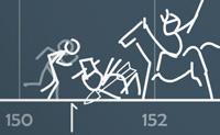 Ajuda o pequeno homem do pau a chegar o mais longe possível na linha do tempo: cada obstáculo em que ele bata irá forçá-lo a começar tudo de novo. Alguns obstáculos não se movem, os outros movem-se e esses são muito mais difíceis de evitar, é claro. Então, salta, sê rápido, e tenta avaliar a velocidade e comprimento do teu salto!