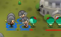 Constrói o teu próprio reino e defendo-a contra os zombies! Escolha os teus soldados e deixa o teu exército derrotar os inimigos. Também podes chamar a ajuda dos agricultores: eles podem apanhar ouro para ti, derrubar árvores e construir coisas.
