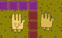 As tuas m�os t�m vida pr�pria. Podes lev�-las atrav�s deste labirinto cheio de desafios? As m�os ajudam-se umas �s outras: quando um lado est� bloqueado por um obst�culo, do outro lado podem ajudar-te pressionando um bot�o vermelho ou laranja. N�o fiques muito apressado: as m�os precisam de esperar uma pela outra.