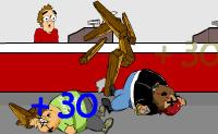 O Chubby Gordo foi abandonado por todos os seus amigos. Juntamente com outros gordinhos ele decide vingar-se dos sacos de ossos. Como? Com uma catapulta que lança um gordo após o outro!