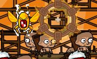 A luta entre o Deus Gato e o Rei Sol ainda está em pleno progresso. O jogo tem lugar no Antigo Egipto, onde uma torre está a ser construída para o Rei Sol. Em cada nível, tu, como o Deus Gato, tens um número de objetivos que precisas de alcançar. A torre não deve ser terminada, por isso precisas de matar o maior número possível de escravos egípcios, atirando bolas de fogo contra eles. Não há apenas os escravos, mas também soldados, arqueiros, sacerdotes, sacerdotisas, artesãos, fantasmas, chacais, soldados voadores, múmias, e, claro, o teu maior inimigo , o próprio Rei Sol. Há também escaravelhos dourados a voar - tenta acertar nestes para uma pontuação mais alta! Depois de cada nível, terás a hipótese de trocar os teus pontos por atualizações para aumentar as tuas hipóteses de sobrevivência. Podes jogar este jogo sozinho ou em modo de dois jogadores.