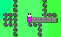 Podes ajudar este tipo a pintar todos os blocos? A gravidade é um pouco estranha neste jogo de puzzle e habilidade: quando o personagem pula ele vai aparecer do outro lado do ecrã, na parte inferior. E quando ele cair, também será exibido novamente no outro lado do ecrã. Cuidado com todos os objetos cortantes: se os  atingires será o teu fim. Certifica-te de que pulas para o lado certo!
