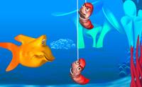 Ajude o Chomper a nadar e a comer o maior número de minhocas que puder!