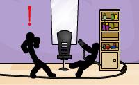 O objetivo é simples nesta barbearia cheia de stickmen: matar todos passando despercebido clicando em alguns itens pela ordem correta. Isto irá causar acidentes e isso é exatamente o que estás à procura. Uma pequena dica: começa com a lâmpada na sala no canto superior direito e faz outra coisa no mesmo quarto. Então tens a tua oportunidade na sala no canto superior esquerdo (a cadeira é bastante instável...) e continuas imediatamente na sala abaixo, antes que o barbeiro leve o secador de cabelo. Boa sorte!