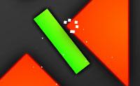 Mantém o retângulo verde dentro do ecrã. Obstáculos cor-de-laranja estão a obstrui-te: evita-os. Apanha as atualizações azuis: elas permitem, por exemplo, tornar-te invisível. Quando o teu medidor de teletransporte estiver completamente preenchido (= branco), podes usar o teletransporte. Quando ativares o modo de velocidade, vais ganhar ainda mais pontos. Este é também o caso quando te moves em linha reta ou para trás ou quando ficas perto dos limites esquerdo ou direito do ecrã.