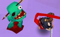 Joga este agradável jogo de agilidade Ninja e mata o maior número possível de 'Zomblings'! Como um Ninja, corres rápido por áreas onde um monte de inimigos esperam por ti. Zombies pequenos, zombies grandes, gordos e magros... Tens que vencê-los de uma forma ou de outra e distingue os zombies que só podes evitar (grandes, vermelhos). Os Zombies-Golias ganhas, por exemplo, mergulhando por debaixo deles, outros tens que pular e ainda outros que tens que atropelar. Vais descobrir logo que começares a jogar o jogo. Diverte-te!
