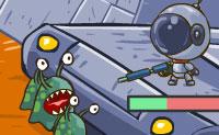 Todo os tipos de alienígenas estão a vir na tua direção e é contigo defender a tua estação espacial contra eles. Atira em todos os alienígenas para chegar ao nível seguinte! Podes executar atualizações após cada nível para que possas armar-te ainda melhor ! Podes jogar este jogo no modo fácil, normal e difícil.