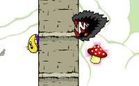 Este divertido jogo desafia absolutamente a tua agilidade e reatividade! A pequena criatura amarela tenta alcançar a saída num mundo cheio de aguçados perigos. Ele pode saltar como nenhum outro, e até mesmo fazer um salto duplo é canja para ele. Evita todos os itens pontiagudos, apanha cogumelos e rebenta balões. Quando apanhares três cogumelos saltas um nível. A criatura também pode andar no teto: isto é muito útil quando uma longa fila de picos está a bloquear o teu caminho. Alguns níveis escondem segredos, assim mantém os olhos abertos!