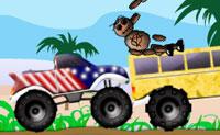 Navega no teu camião monstruoso e corre em carros onde podes ganhar um monte de dinheiro em andamento! Continua até que se acabe o combustível. Quando ganhares o dinheiro suficiente, podes comprar um camião monstruoso maior.