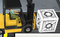 Moves caixas com o teu empilhador, muitas caixas. Podes mover o teu empilhador bem o suficiente para transportar a carga perfeitamente do ponto de recolha ao ponto onde podes descarregar o teu empilhador?