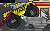 Uáu, isto é um táxi extraordinário: um camião monstruoso! Gostarias de conduzir este veículo monstruosamente grande? Apanha os teus clientes a tempo e leva-os aos seus destinos.