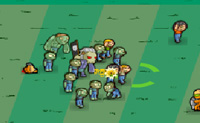 No cemitério está a haver uma festa do dia das bruxas: é o ideal para ti, como zombie, tens muita carne humana para morderes e um pequeno exército de zombies para juntares à tua volta!