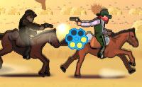 Esta é a segunda parte do jogo chamado 'Bandido em fuga'. Neste episódio, também vais tentar tornar-te no bandido mais procurado do Velho Oeste! Fotografa os teus inimigos e adversários nos seus cavalos e tenta apanhar todas as moedas a saltar. Podes dobrar o valor das tuas moedas disparando contra elas primeiro. Podes escolher dois modos de jogo: 'história' e 'interminável'. 'Interminável' é um modo interminável, onde tens que evitar todo o tipo de obstáculos e apanhar moedas. 'História' é uma espécie de corrida de cavalos.