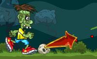 Sabes o que zombies gostam de fazer? Jogar futebol com crânios. Sim, pode ser difícil de imaginar uma coisa tão sinistra, mas joga este jogo e vê como é. Podes ajudar o zombie a chutar a bola crânio para a baliza?