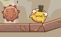 Esta pequena bola amarela é totalmente louca por moedas. Ela faz de tudo para apanhar uma moeda. Podes ajudá-la?
