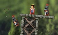 Tenta atirar o rei para fora da sua torre com o canh�o desenhado por Da Vinci!