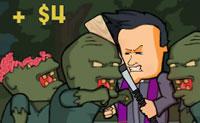 Como padre tens uma missão importante: eliminar zombies! Quantos mais zombies matares, mais armas podes utilizar. Afasta-os de ti com o teu taco de basebol ou atira-lhes com o teu revólver. Atenção: se fores muitas vezes mordido pelos zombies, o jogo acaba!