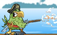 A tripulação de um navio pirata inimigo colocou todos os piratas do teu navio em garrafas! Podes ajudar o papagaio a livrar todos os piratas das garrafas?