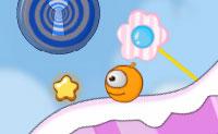 A Terra dos Doces é um país muito especial: podes girá-lo em todas as direções e tens que guiar a laranja doce para o círculo azul e branco. Atinge tantas estrelas quanto possível!