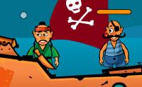A tua ilha é atacada por piratas impressionantes. Da tua fortaleza disparas o canhão contra os piratas, assim atira de volta quando for a tua vez de atacar. Vais conseguir eliminá-los a todos?