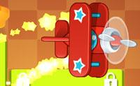 Tenta manter o teu avi�o brinquedo no ar. Liga a bateria ao avi�o, colocando uma ou mais barras no meio e tenta incluir estrelas de