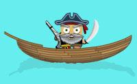 Tenta atirar os pequenos piratas para fora dos seus barcos com o teu canh�o no m�nimo de tentativas poss�vel!