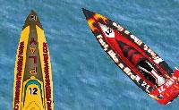Uma corrida de barco emocionante é organizado no mar. Tomas parte dela e vais tentar acabar em primeiro com o teu barco, sem destruir as rochas!