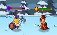 Os Romanos conquistaram todas as tribos Vikings do norte. Sobrou um par de rebeldes que n�o se querem render. Juntamente com os Vikings eles fazem planos para derrotar os Romanos! Neste jogo do tipo Defesa do Castelo vais ajudar os Vikings.
