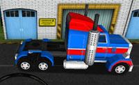Conduz o teu camião gigante com rodas 18 para o ponto destacado, sem bater em obstáculos!