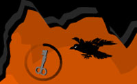Este corvo foi abatido por um caçador bêbado e o pássaro acabou numa espécie de dreno. A sua queda enfraqueceu-o muito, e ele vai morrer assim que atingir qualquer coisa: paredes, tetos, instrumentos de tortura etc. Guia este corvo no inferno, no seu caminho para a vida no mundo à superfície!
