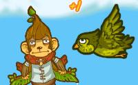 Um macaco chamado Monty está triste: ele quer ter uma namorada também! Na Terra parece ter-se tornado impossível encontrar uma: bom, neste caso, ele vai para a Lua. Ele é lançado e deve apanhar o maior número de bananas que possa no seu caminho para a Lua: ele pode trocá-las por atualizações, como um foguete.
