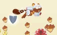 Com um foguete às costas, o capitão Nutty voa nos céus, perseguindo bolotas e bónus! Evita os balões com as cabeças da morte sobre eles!