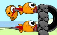 Lança o peixinho de volta para o aquário, pois um peixe fora de água não tem uma vida eterna! No modo 'Classic' jogas para ganhar pontos e no modo 'Skins' também jogas por moedas. Também podes jogar este jogo com 2 jogadores!