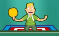 Saltar trampolim e jogar ping-pong ao mesmo tempo: um bom desafio! Experimenta-o neste jogo e acerta na bola de tal forma que o teu adversário não possa alcançá-la!