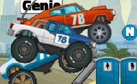 Conduz o teu camião monstruoso pela pista e tenta obter o máximo de moedas e nitros possível!