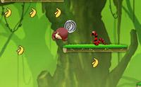 Ajude o macaco a apanhar todas as bananas que existem em cada nível.