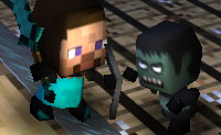 Escolhe o teu lutador: Steve ou Herobrine e envolve os zombies em batalha neste labirinto escuro. Mantêm o teu personagem à vista, caso contrário os zombies sedentos de sangue podem matar-te!