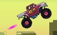 Estás pronto para desafiar o campeão nesta corrida de camiões monstruosos? Apanha moedas, executa saltos mortais e sê o primeiro a cruzar a linha de chegada!