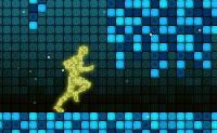 É um jogo de capacidade de reacção, divertido e desafiante! Corre por um mundo de pixéis e tem cuidado para não tocares em nenhuns obstáculos; salta por cima deles, mergulha por baixo deles... tenta apanhar a quantidade de bolas de energia exigida (amarelas ou azuis) que são indicadas quando começas o jogo. A amarela acelera-te, a azul atrasa-te.