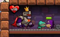 Montes de monstros entram no teu castelo, e tu, um cavaleiro forte, deves trabalhar com os teus ajudantes para te certificares de que eles não entram no reino. Podes actualizar ou vender os teus defensores. Boa sorte!