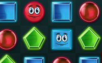 Cria grupos de quatro ou mais figuras idênticas e fá-las desaparecer! Dentro da figura vais ver a forma que pode tomar. Um quadrado azul com um círculo vermelho dentro só se pode transformar num círculo vermelho. Apanha todas as figuras com um rosto para completar o nível. Tenta ser o mais rápido possível: então vais ganhar uma estrela!