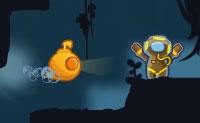 Mergulhadores perderam-se debaixo de água e tu, com o teu submarino amarelo, vais em busca deles. Essa busca não é livre de riscos: assim que um feixe de laser te bata, acaba o jogo! A maioria das rochas negras são duras, mas cada nível também contém um espaço secreto a que podes chegar navegando 'através' das pedras: é assim que podes alcançar os espaços secretos. Podes usar as superfícies brancas 'redimensionáveis' para te tornares maior ou menor, de modo a que possas aceder a locais fora de alcance. Tenta apanhar três estrelas em cada nível para desbloquear níveis de bónus!  <a href=