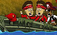 A costa é invadida por piratas. A piranha letal acha que está na hora de agir e come um monte deles. Assim que a piranha avista a sua vítima, ela salta para atacar. Quanto mais ela come, mais ela sobe na cadeia alimentar. Quando a fome da piranha for aliviada podes passar para o próximo nível.