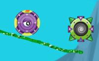 Desenha um caminho para que o Ugi possa rolar para a roda que vai levá-lo para a próxima época. Começas na idade de gelo e , em seguida, passa pela Idade Média, a revolução industrial e a era das viagens no espaço.